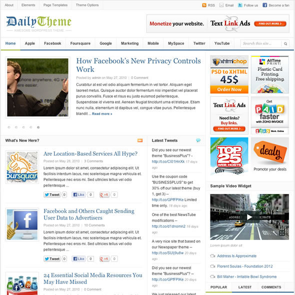 Daily 2.0 Blogger Template