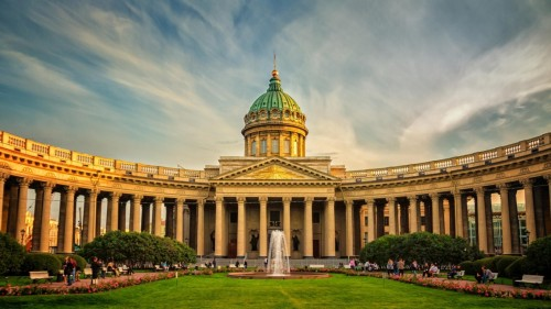Beautiful Kazan Cathedral St. Petersburg 1366 x 768 HDTV