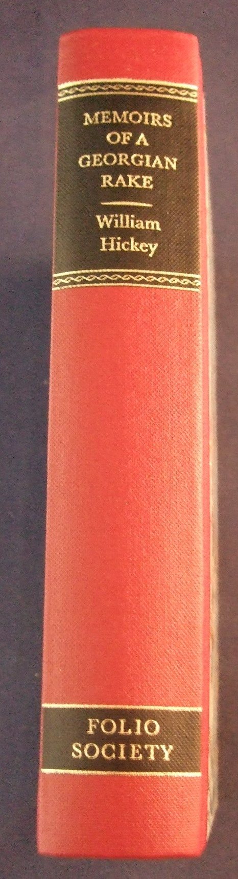 Whickey georgian rake memoirs hb spine