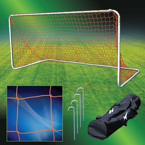 Agora Portable Soccer Goal 5 inches X 10 inches 1.5 inch Round Aluminum