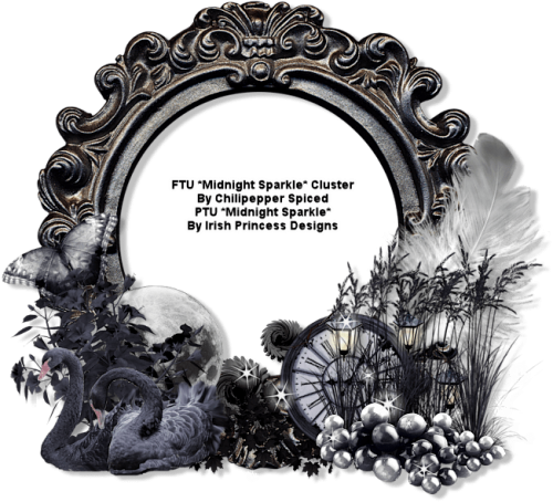 toppng.com ct ftu midnight sparkle cluster borders and frames halloween cluster frame ftu 651x591