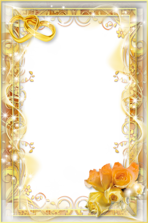 toppng.com yellow wedding png photo frame png wedding photo frames 853x1280